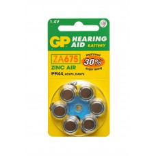 Аккумулятор для слуховых аппаратов GP, ZP тип 675